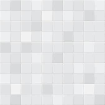 Abstrakter hintergrund oder nahtloses muster von fliesen in weißen und grauen farben