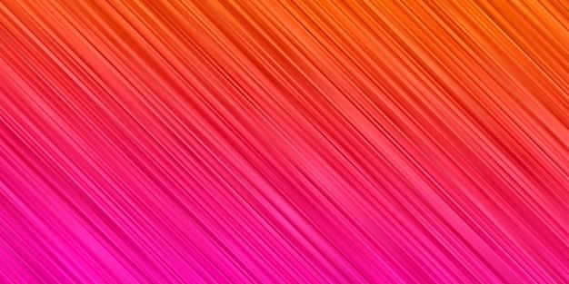Abstrakter hintergrund orange rosa farbverlaufsfarbe. streifenlinie tapete