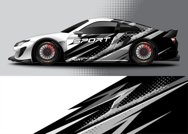 Abstrakter hintergrund-rennsportwagen für wrap-aufkleber-design und fahrzeuglackierung