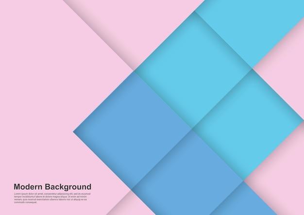 Abstrakter hintergrund rosa und blaues licht modernes design