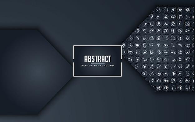 Abstrakter hintergrund schwarz und grau mit funkelnsilber
