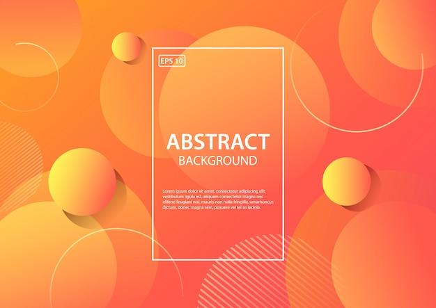 Abstrakter hintergrund. trendy farbverlauf formen zusammensetzung. illustration