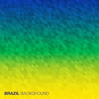 Abstrakter hintergrund unter verwendung der brasilien-flaggenfarben