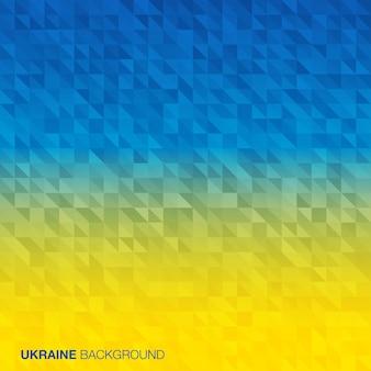 Abstrakter hintergrund unter verwendung der flaggenfarben der ukraine
