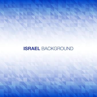 Abstrakter hintergrund unter verwendung der israelflaggenfarben