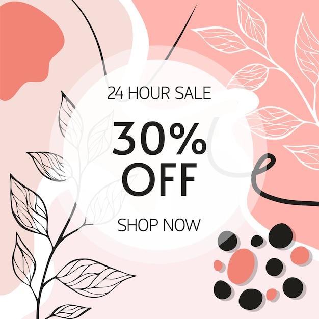 Abstrakter hintergrund. verkaufsdesignvorlage im minimalistischen stil. stilvolles cover für beauty-präsentation, branding-design. vektor-illustration