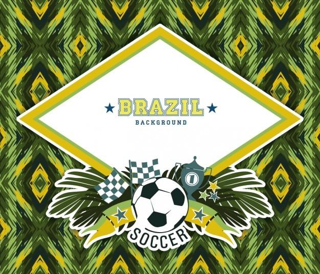 Abstrakter hintergrund von brasilien