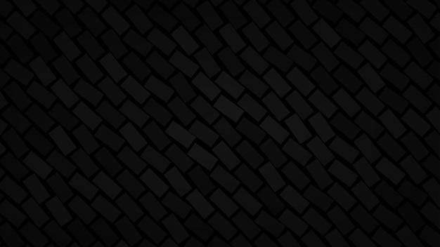 Abstrakter hintergrund von diagonal angeordneten rechtecken in schwarzen farben
