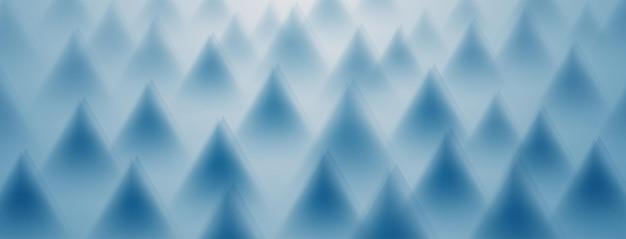 Abstrakter hintergrund von dreiecken in hellblauen farben