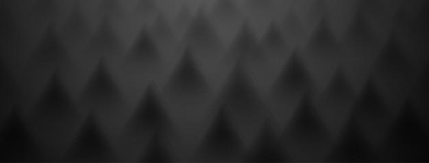 Abstrakter hintergrund von dreiecken in schwarzen farben