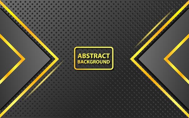 Abstrakter hintergrund von eleganten schwarz- und goldfarbkombinationen