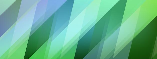 Abstrakter hintergrund von farbigen polygonen in grünen farben