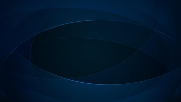 Abstrakter hintergrund von geschwungenen linien in dunkelblauen farben