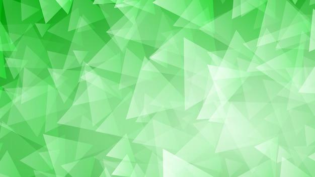 Abstrakter hintergrund von kleinen dreiecken in grünen farben