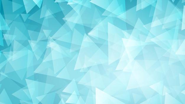 Abstrakter hintergrund von kleinen dreiecken in hellblauen farben