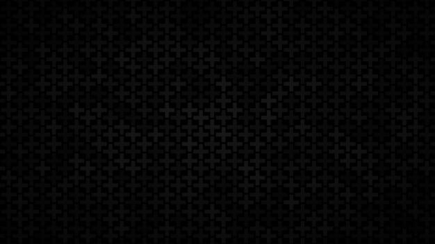 Abstrakter hintergrund von kleinen kreuzen in schwarztönen