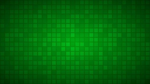 Abstrakter hintergrund von kleinen quadraten oder pixeln in den grünen farben.