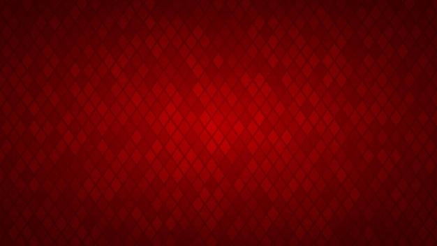 Abstrakter hintergrund von kleinen rauten in roten farben.