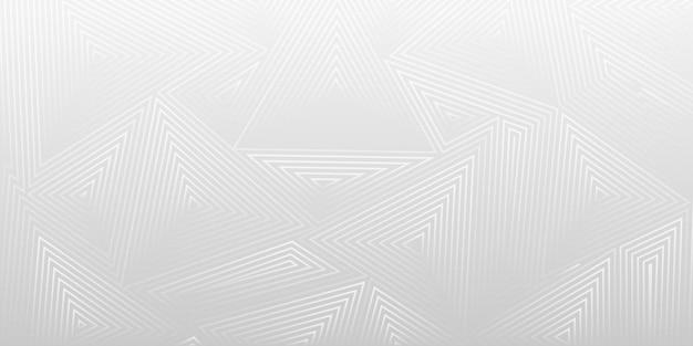 Abstrakter hintergrund von konzentrischen dreiecken in grauen farben