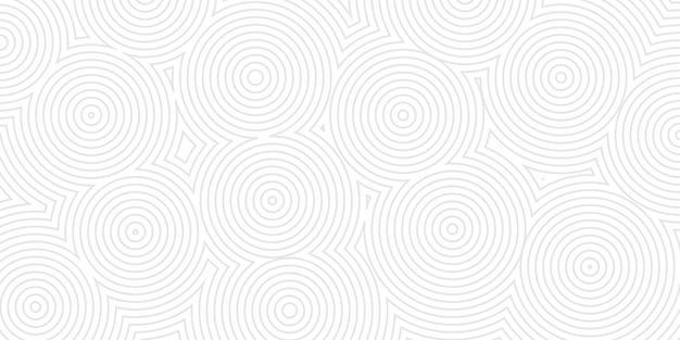 Abstrakter hintergrund von konzentrischen kreisen in grauen farben