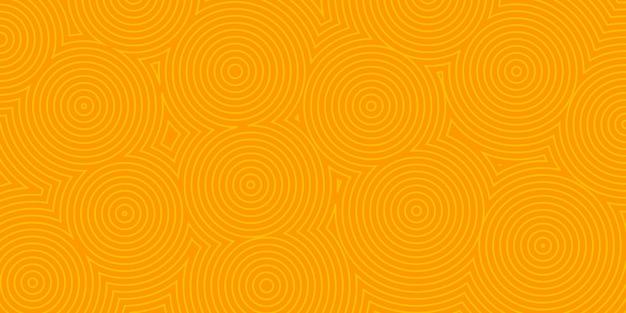 Abstrakter hintergrund von konzentrischen kreisen in orangen farben