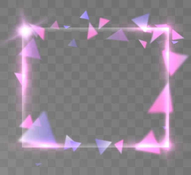 Abstrakter hintergrund von lila dreiecken