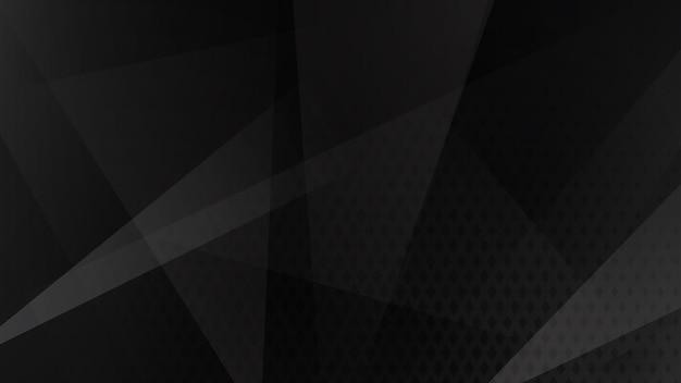 Abstrakter hintergrund von linien, polygonen und halbtonpunkten in schwarzen und grauen farben