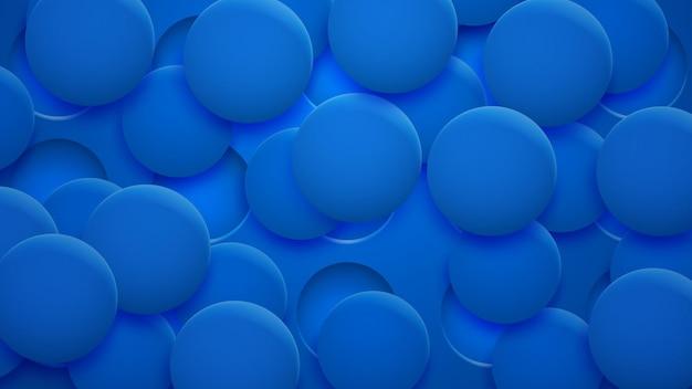 Abstrakter hintergrund von löchern und kreisen mit schatten in blauen farben