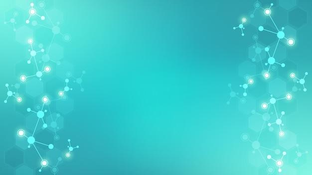 Abstrakter hintergrund von molekülen