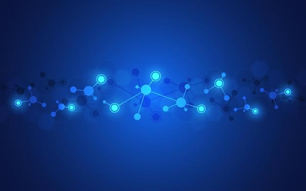 Abstrakter hintergrund von molekularen strukturen