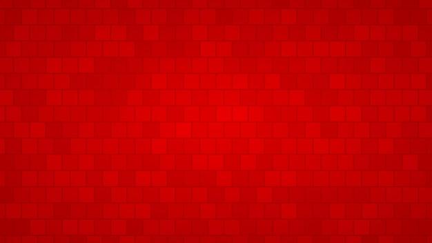 Abstrakter hintergrund von quadraten in rottönen