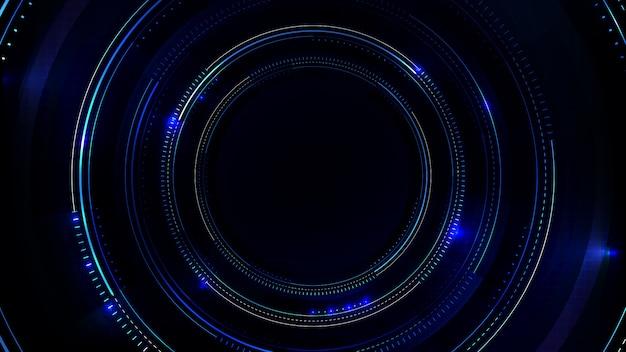 Abstrakter hintergrund von sci fi hud ui mit blauer leiterplatte