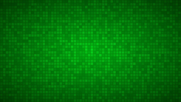 Abstrakter hintergrund von sehr kleinen quadraten oder pixeln in grünen farben.