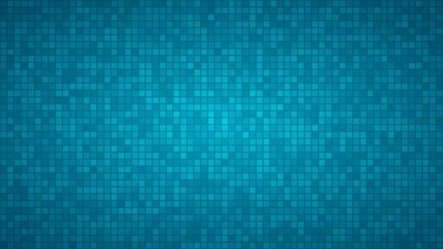 Abstrakter hintergrund von sehr kleinen quadraten oder pixeln in hellblauen farben.