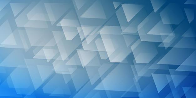 Abstrakter hintergrund von sich kreuzenden dreiecken und polygonen in hellblauen farben
