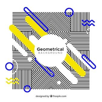 Abstrakter hintergrund von streifen und geometrischen formen