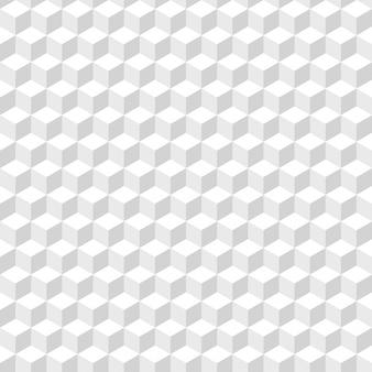 Abstrakter hintergrund von weißen würfeln. weißes nahtloses muster