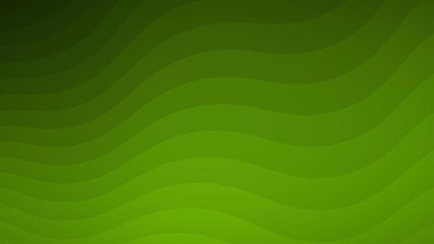 Abstrakter hintergrund von wellenlinien in grüntönen