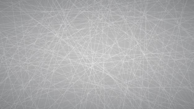 Abstrakter hintergrund von zufällig angeordneten linien in grauen farben.