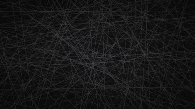Abstrakter hintergrund von zufällig angeordneten linien in schwarzen farben.