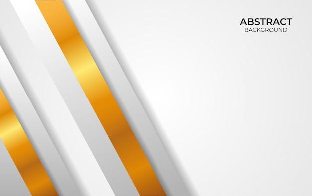 Abstrakter hintergrund weiß und gold design