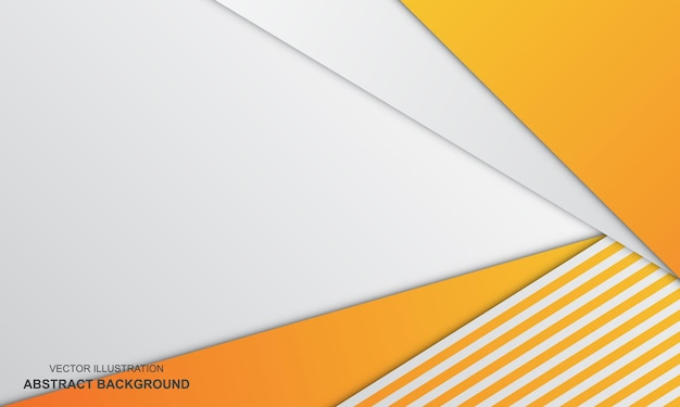 Abstrakter hintergrund weiß und orange farbe