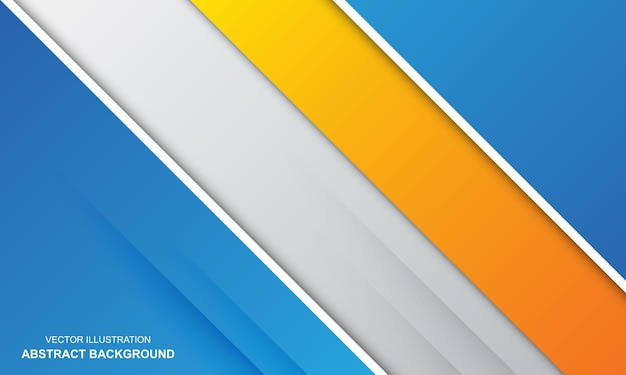 Abstrakter hintergrund weiß, weiß, orange und blau