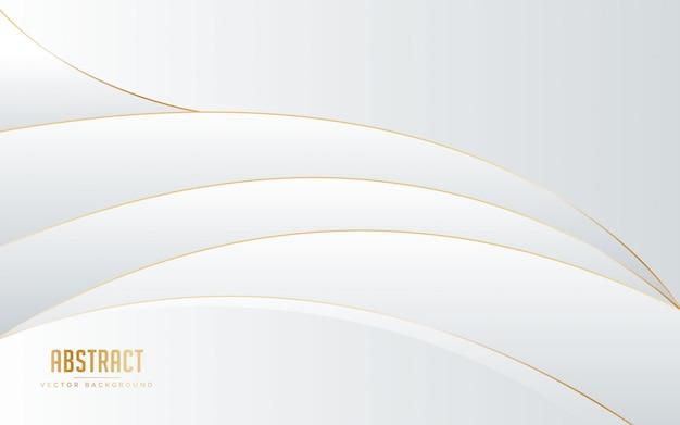 Abstrakter hintergrund weiße und graue farbe mit linie goldener farbe.