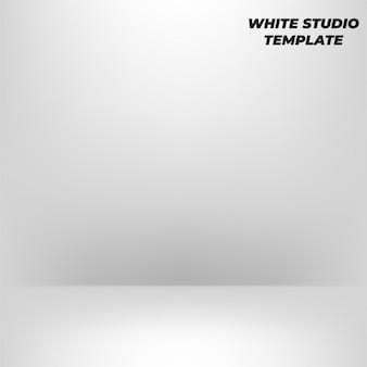Abstrakter hintergrund. weißer leerer studioraum für produktanzeige. ausstellungsraum
