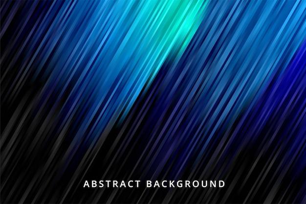 Abstrakter hintergrundgradient. blaue schwarze streifenlinie tapete