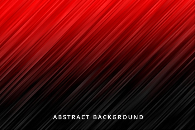 Abstrakter hintergrundgradient. rote schwarze metallstreifen-tapete