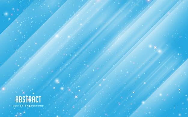 Abstrakter hintergrundstern und -kristall mit buntem blau und weiß. modernes minimales eps 10