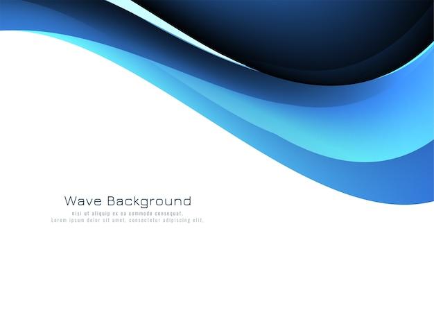 Abstrakter hintergrundvektor der blauen wellenart