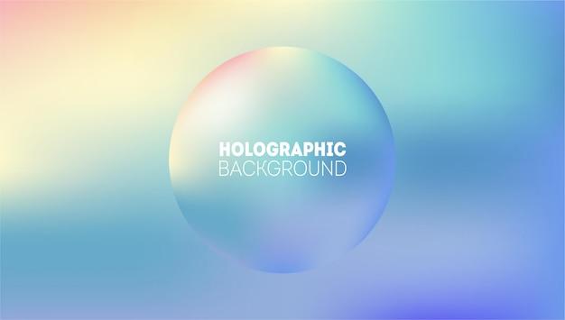 Abstrakter holographischer hintergrund. regenbogen märchen neon hologramm gradient